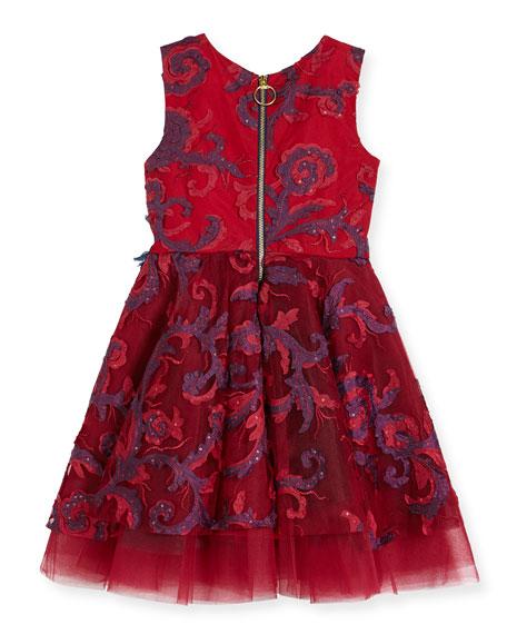 Ava Masquerade Ball Swirl Dress, Size 7-14