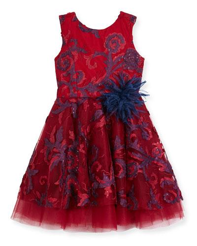 Ava Masquerade Ball Swirl Dress, Size 2-6X and Matching Items