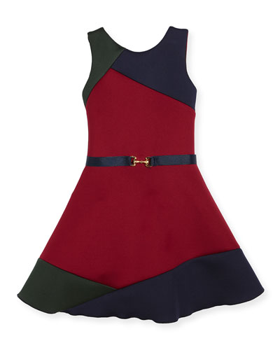 Gigi Colorblock Swing Dress w/ Belt, Size 4-6X and Matching Items