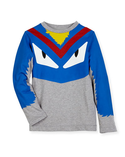 Boys' Long-Sleeve Monster Eyes Graphic T-Shirt, Size 6-8 and Matching Items