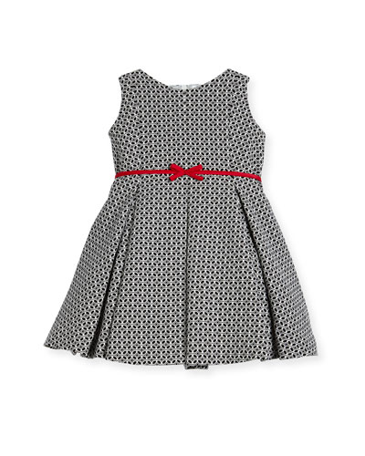 Geometric Print Dress w/ Red Trim, Size 2-6 and Matching Items