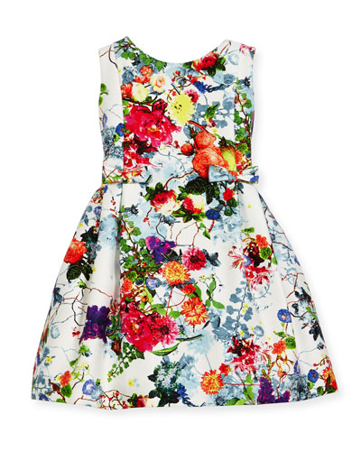Sleeveless Pleated Floral Dress, Size 7-14 and Matching Items