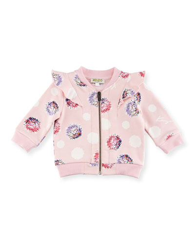 IG Floral Pompom Zip Jacket, Light Pink, Size 12-18M and Matching Items