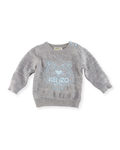 Knit Tiger Pullover Sweater, Gray, Size 2-3Y and Matching Items