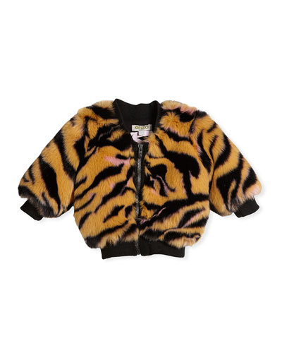 Faux-Fur Tiger Jacket, Size 2-3 and Matching Items