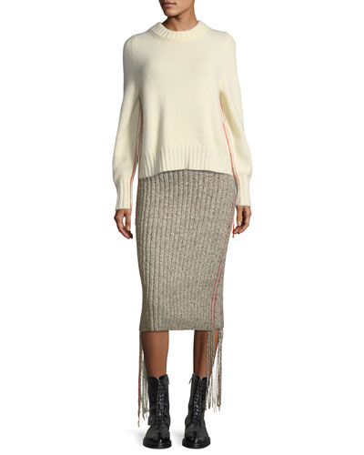 Melodie Ribbed Cashmere Pencil Skirt and Matching Items