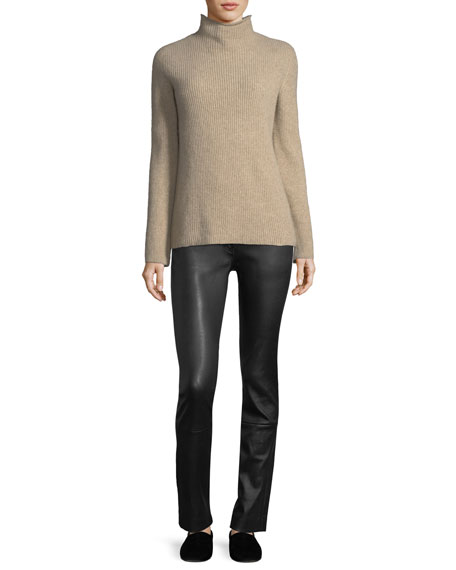 Lonnie Ribbed Wool-Cashmere Sweater