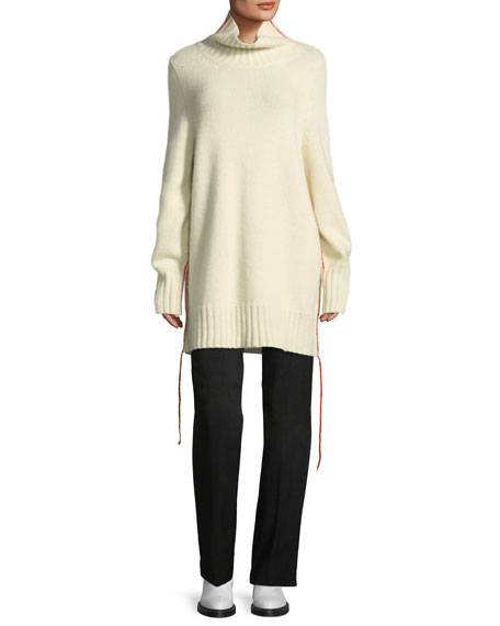 Donia Long Cashmere Turtleneck Sweater