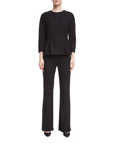 Crepe Boot-Cut Pants and Matching Items