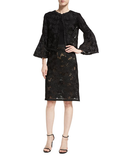 Lace Bell-Sleeve Jacket and Matching Items
