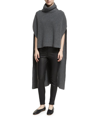 Ribbed Cashmere Side-Slit Tunic and Matching Items