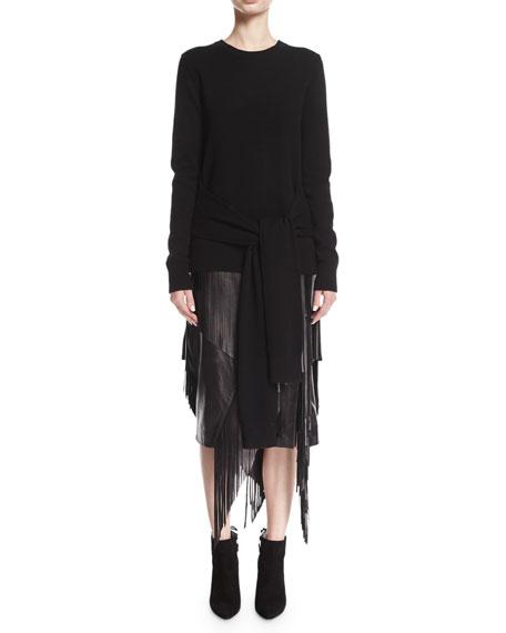 Tie-Waist Cashmere Pullover