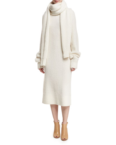 Knit Turtleneck Sweaterdress and Matching Items