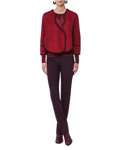 Colorblock-Striped Pullover Top
