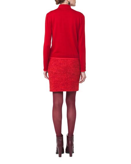Sleeveless Knit Wool Top