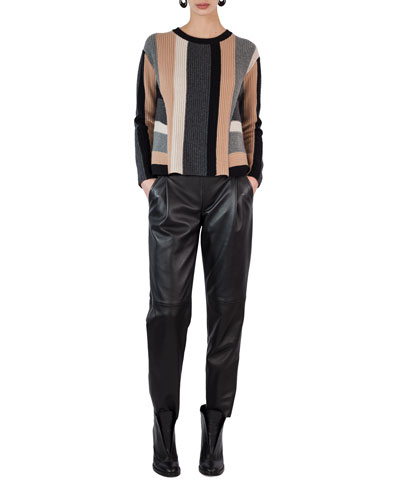 Fiola Leather Slouchy Pants and Matching Items