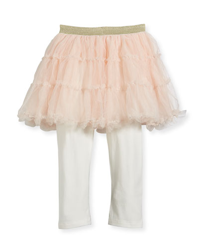 Jersey Leggings w/ Attached Tulle Skirt, Size 12-18 Months  and Matching Items