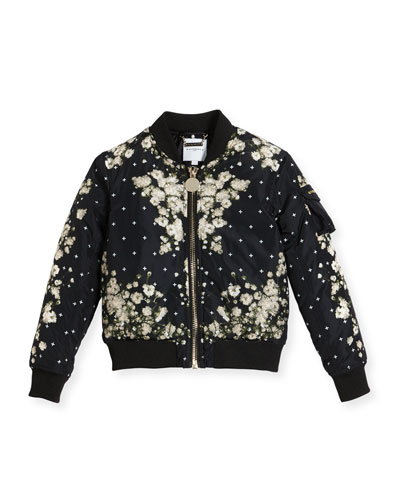 Baby's Breath Print Puffer Bomber Jacket, Size 4-5 and Matching Items