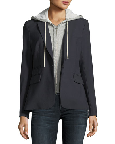 Cashmere Hoodie Zip-Front Dickey and Matching Items