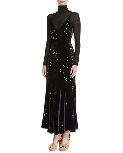 Bridget Crystal-Embellished Velvet Midi Dress and Matching Items