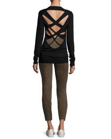 Liva Strappy-Back Merino Wool Sweater