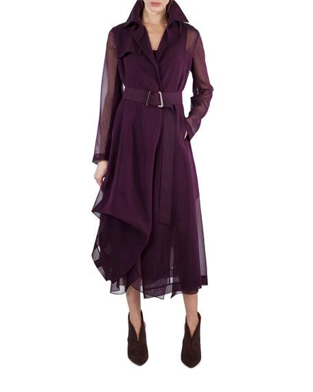 Sleeveless Scoop-Neck Chiffon Dress