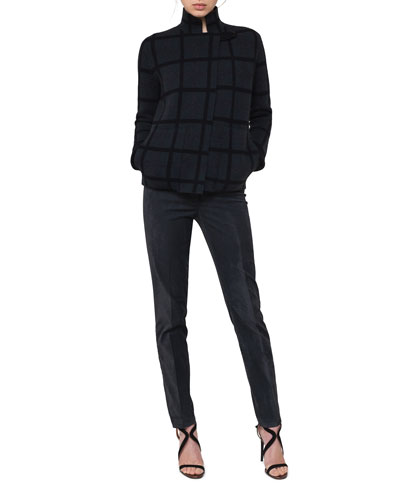 Grid-Check Reversible Cashmere Cardigan and Matching Items