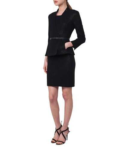 Leila Metallic Knit Jacket w/Belt and Matching Items