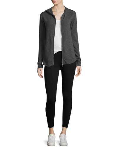 Cashmere-Blend Zip Front Hooded Jacket and Matching Items