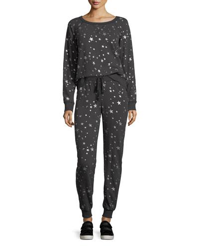 Edrie Night-Sky Round-Neck Cotton Sweatshirt and Matching Items