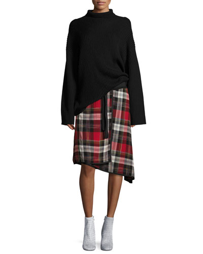 Ilha Plaid High-Waist A-Line Skirt and Matching Items