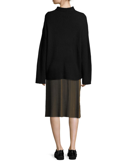 Serat Long-Sleeve Mock-Neck Sweater
