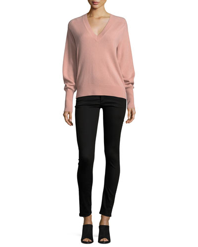 Deacon V-Neck Cashmere Pullover Sweater and Matching Items