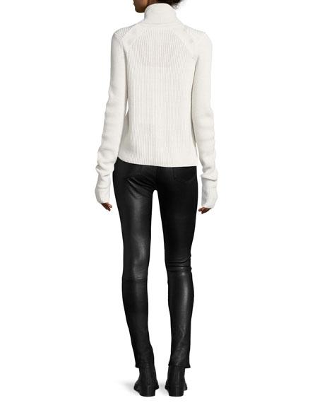 "Kate 10"" Mid-Rise Skinny Leather Pants"