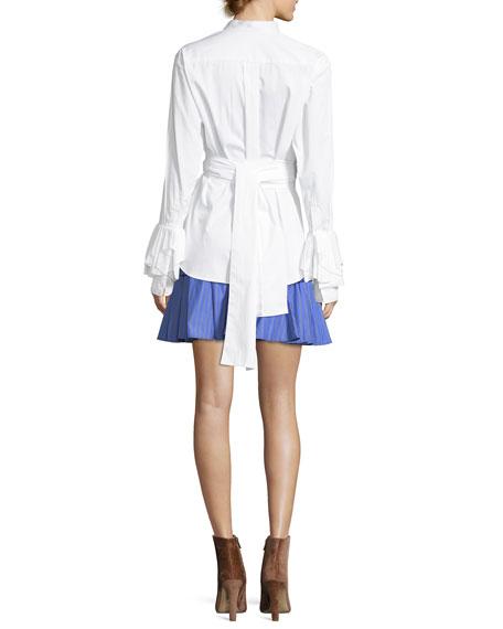 Warmest Light Long-Sleeve Button-Front Poplin Shirt