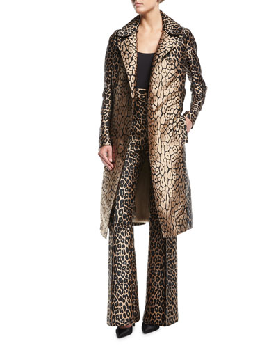 Leopard-Print Sateen Pants and Matching Items
