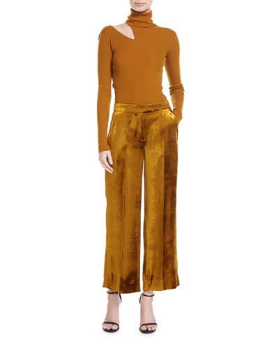 Kara Turtleneck Ribbed Sweater w/ Slit Detail and Matching Items