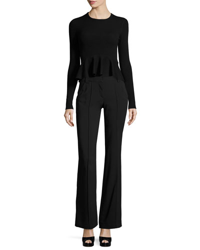 Lawrence Mid-Rise Wide-Leg Crepe Pants and Matching Items