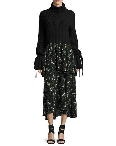 Wylon Sleeveless Printed Silk Maxi Dress and Matching Items