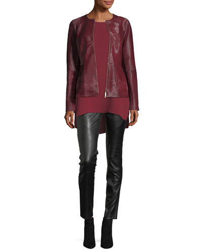 Damien Zip-Front Calf Hair Jacket and Matching Items