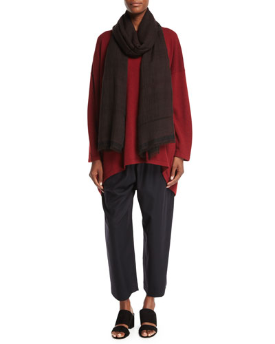 Two-Tone Open Weave Cashmere Scarf and Matching Items
