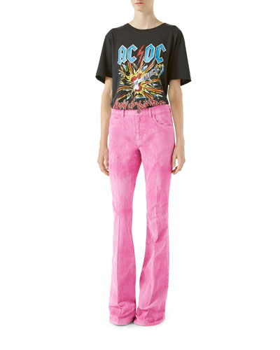 Washed Boot-Cut Corduroy Pants and Matching Items