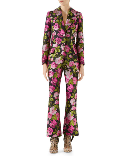 Romantic Flower Embroidered Pants and Matching Items