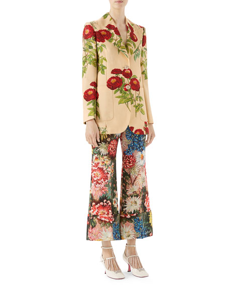 Floral-Embroidered Jacket