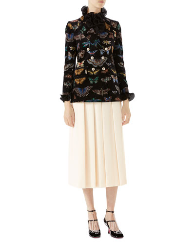 Pleated Wool Crepe Pants and Matching Items