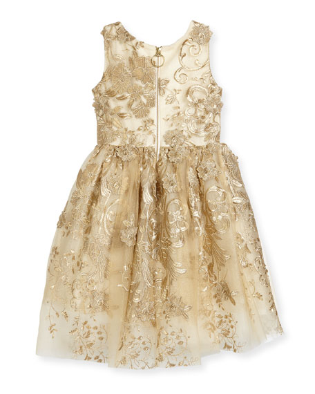 Goldie Textured Tell Party Dress, Size 2-6X