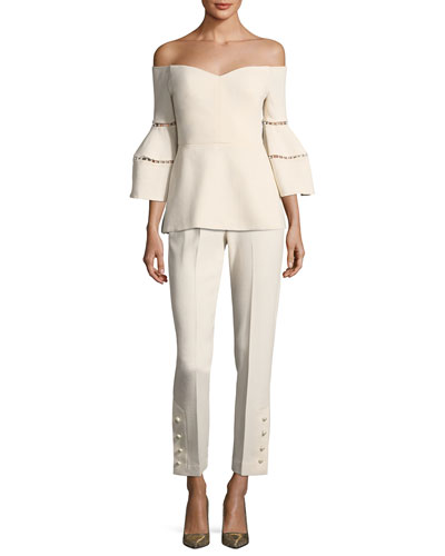 Cropped Wool Crepe Pants and Matching Items