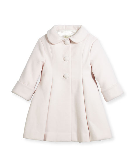Wool Topper Coat, Pink, Size 2-6