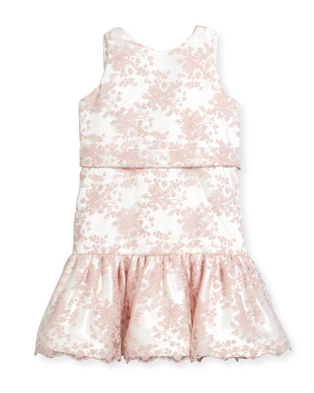 Drop-Waist Lace Dress, Size 2-6