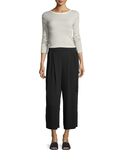 Belted Crepe Culotte Pants and Matching Items